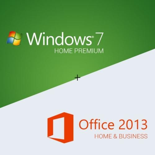 Windows 7 Home Premium + Office 2013 Home & Business Download + License Key